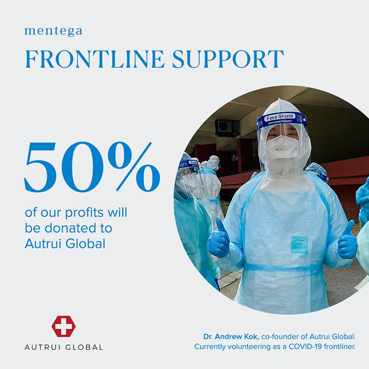 Half of Mentega's profits will go into supporting Autrui Global, a social enterprise that is making personal protective equipment (PPE) for Covid-19 frontliners — Pictures by Choo Choy May and courtesy of Oven Cuttery/Mentega