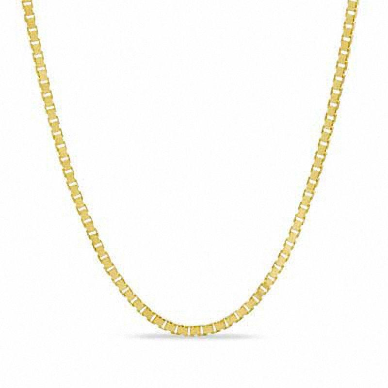 0.6mm Box Chain Necklace in 10K Gold. Image via People's.