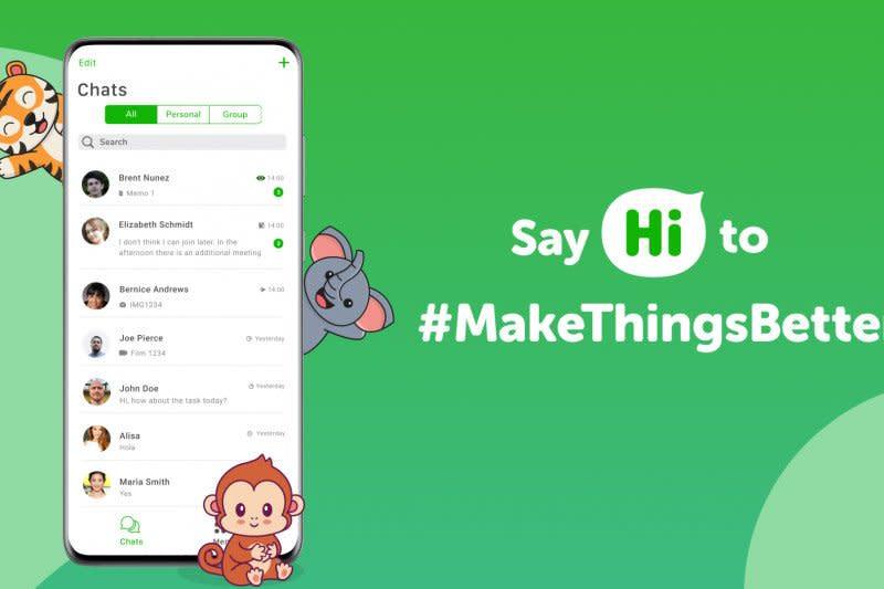 Hi App tersedia di Android dan iOS