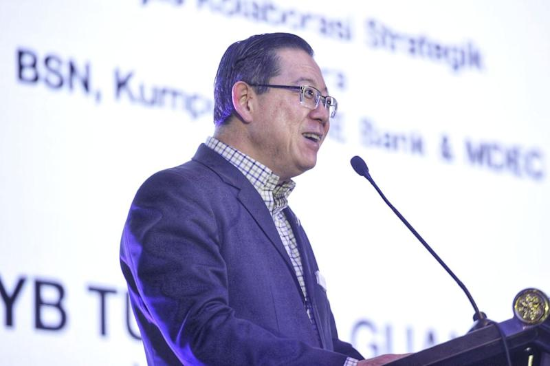 Finance Minister Lim Guan Eng delivers his speech during MDEC and BSN's SME event in Cyberjaya February 17, 2020. — Picture by Shafwan Zaidon