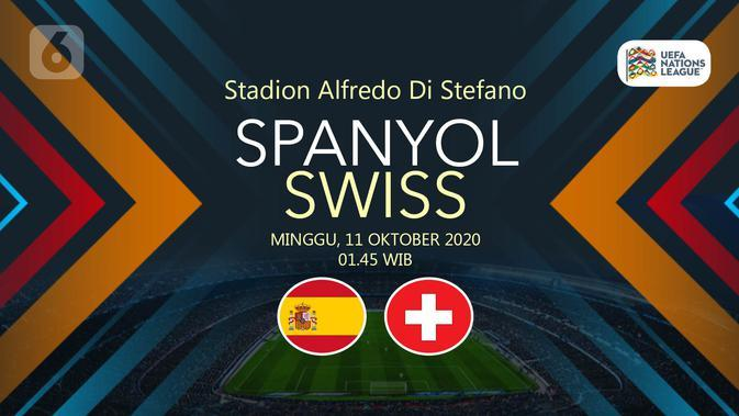Sedang Berlangsung, Live Streaming UEFA Nations League Spanyol vs Swiss