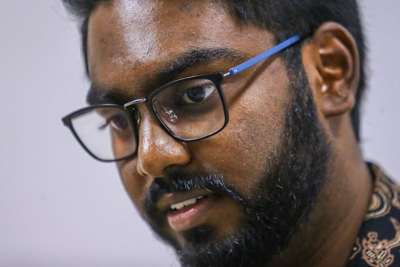 Batu MP P. Prabakaran that ethnic Indian youths are often at the mercy of the quota system when applying to public universities. — Picture by Hari Anggara