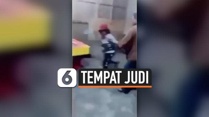 VIDEO: Viral Sejumlah Ibu Ngamuk di Tempat Perjudian