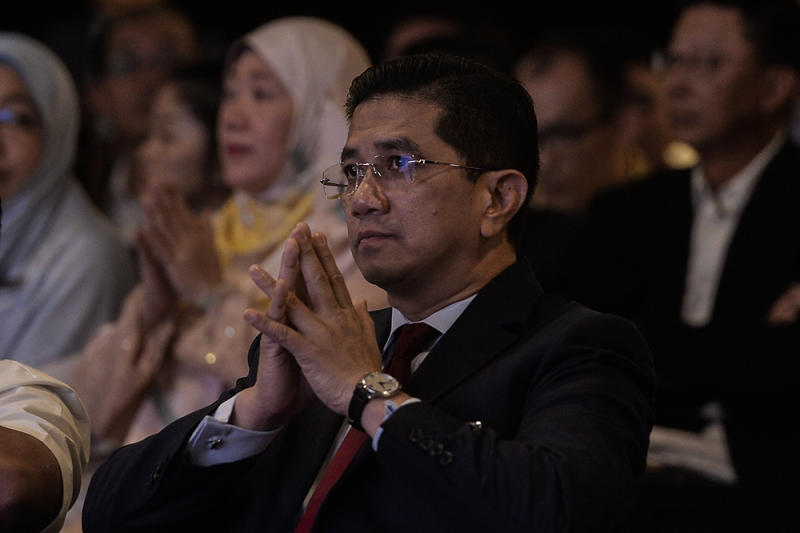 Economic Affairs Minister Datuk Seri Azmin Ali attends the launch of Project Idaman 2019 at SUK Shah Alam June 18, 2019. — Picture by Miera Zulyana