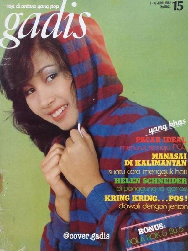 Foto Titi DJ saat jadi sampul majalah. (Instagram/@cover.gadis)
