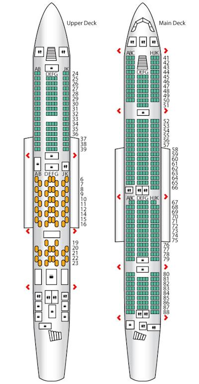 Emirates A380 Seat Map Upper Deck Economy - Best Description ...