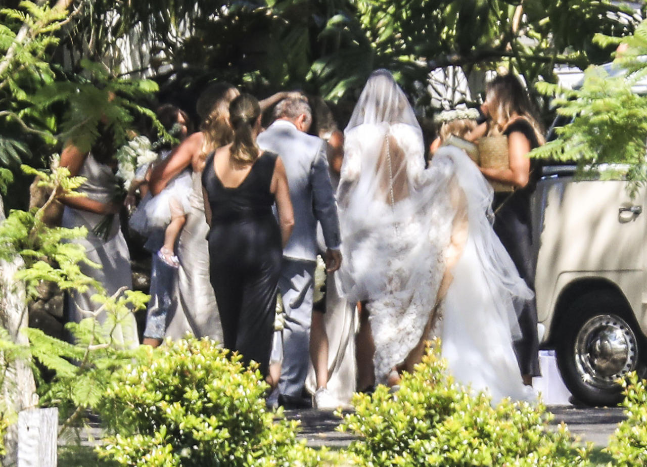<p>The ceremony is said to be a very small affair with about 70 to 80 of the couple's closest friends and family. Source: Media Mode </p>