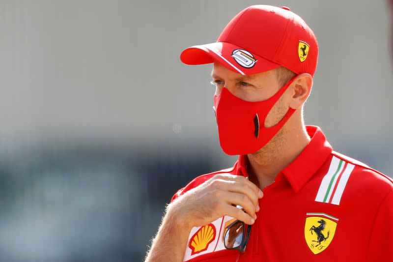 Vettel confirms ride in Racing Point boss's Ferrari