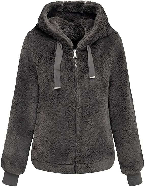 This soft faux fur jacket will keep you warm in any weather. (Image via Amazon)