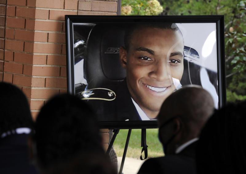 Police Shooting-Veteran's Funeral