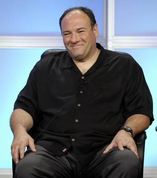 "FILE - In this July 12, 2007 file photo, James Gandolfini, executive producer and interviewer for HBO's Iraq War documentary ""Alive Day Memories,"" smiles during the Television Critics Association summer press tour in Beverly Hills, Calif. HBO and the managers for Gandolfini say the actor died Wednesday, June 19, 2013, in Italy. He was 51. (AP Photo/Chris Pizzello, File)"