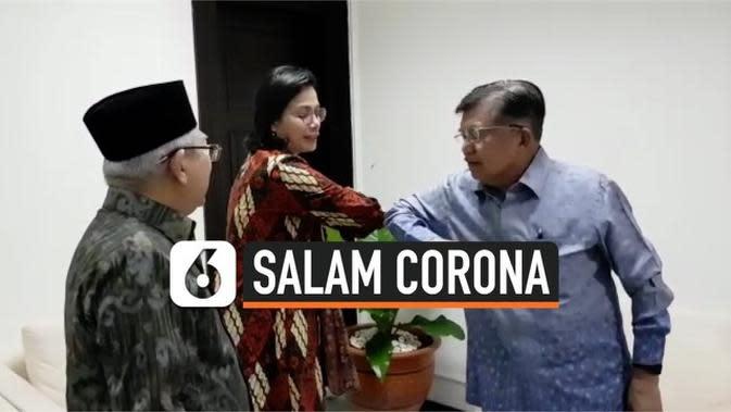 VIDEO: Waspada Corona, JK dan Menkeu Sri Mulyani Pakai Salam Siku