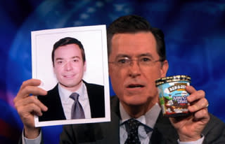 Stephen Colbert Uses Quantum Physics to Prove His Ice Cream is Better Than Jimmy Fallon's