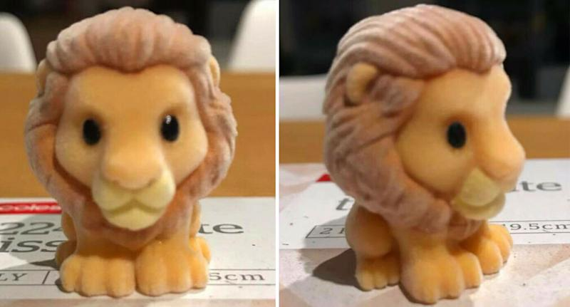 Pictured is the super rare Simba Ooshie close up in two profile images.