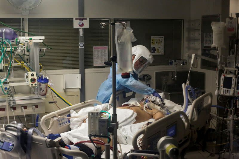 Hard-hit U.S. states 'surge' hospital intensive care beds as ICU wards fill up