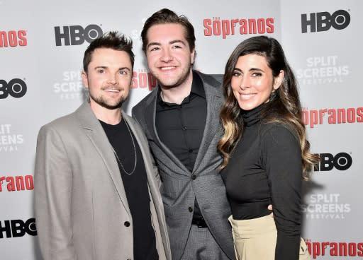 "Robert Iler, Michael Gandolfini and Jamie-Lynn Sigler attend the ""The Sopranos"" 20th Anniversary Panel Discussion at SVA Theater on January 09, 2019 in New York City"