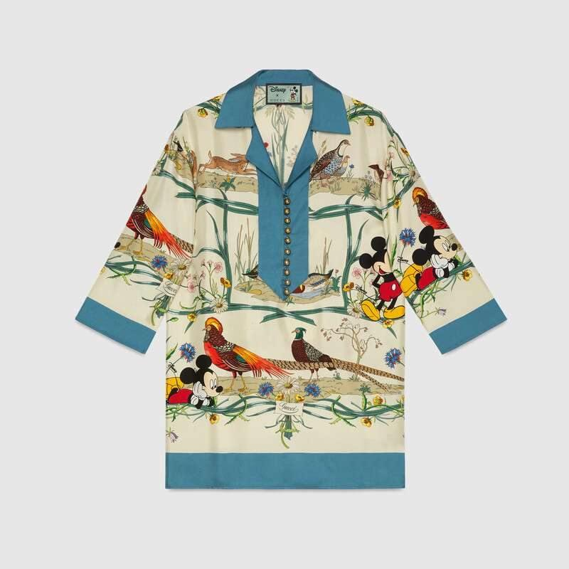 Gucci x Disney silk shirt, price unavailable. — Picture from Gucci