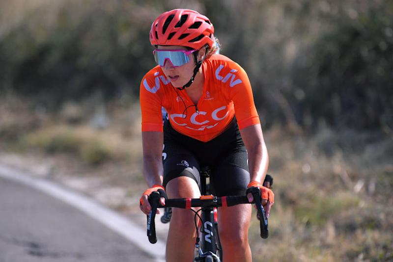 MOTTAMONTECORVINO ITALY SEPTEMBER 19 Sabrina Stultiens of The Netherlands and Team CCC Liv during the 31st Giro dItalia Internazionale Femminile 2020 Stage 9 a 1099km stage from Motta Montecorvino to Motta Montecorvino 645m GiroRosaIccrea GiroRosa on September 19 2020 in Motta Montecorvino Italy Photo by Luc ClaessenGetty Images