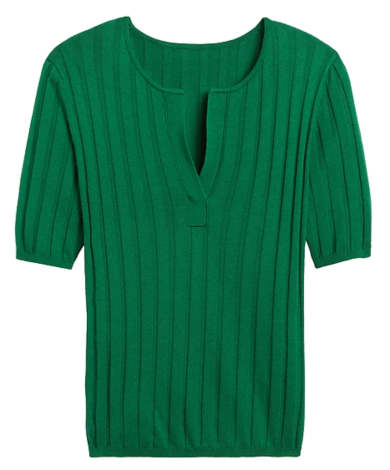 Banana Republic Silk Cashmere Sweater Top in Luscious Green