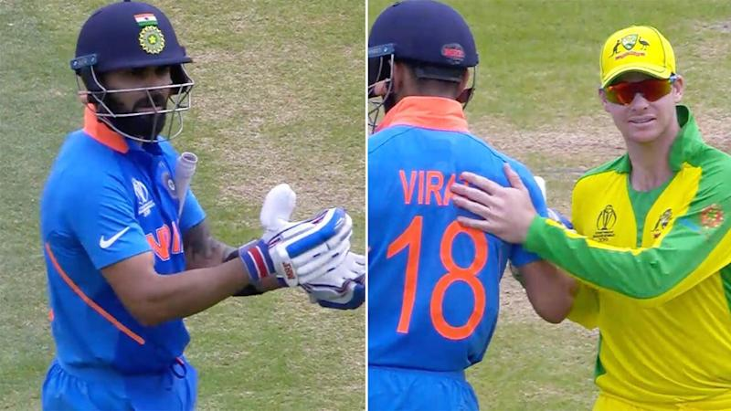 Virat Kohli was praised after telling fans to stop booing Steve Smith.