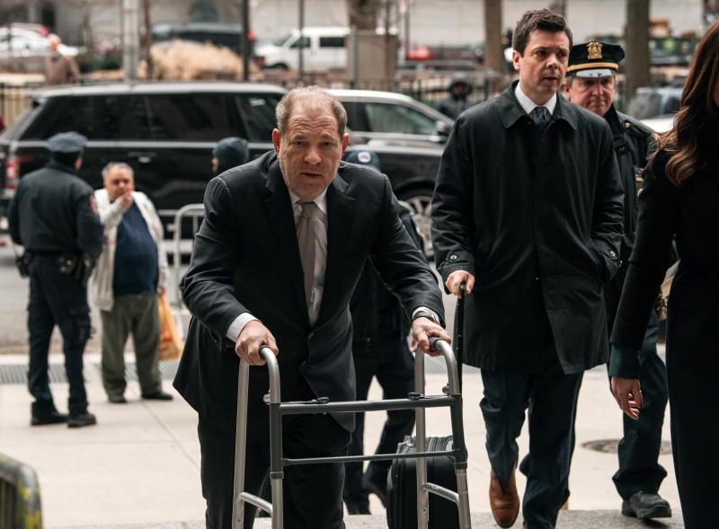 Harvey Weinstein entering New York City Criminal Court on Jan. 13. (Photo: Scott Heins/Getty Images)