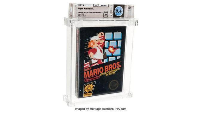 Cetak Sejarah, Kaset Gim Super Mario Bros Jadul Terjual Rp 1,6 Miliar