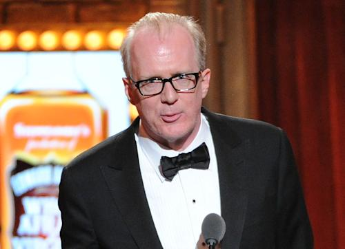 "FILE - In this June 9, 2013 file photo, actor Tracy Letts speaks at the 67th Annual Tony Awards in New York. Producers said Thursday, July 25, that Letts will reunite with director Pam MacKinnon next year for the Broadway premiere of ""Killer Joe,"" his work about a meticulously smooth Dallas police detective with a side business as a hit man. (Photo by Evan Agostini/Invision/AP, File)"
