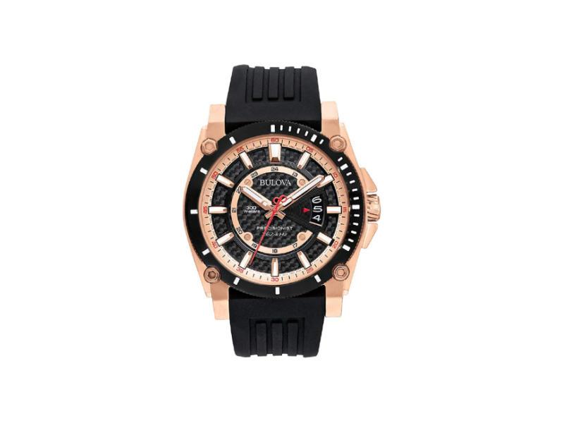 Bulova Men's 98B152 Precisionist Analog Chronograph Black Watch (Photo: Amazon)