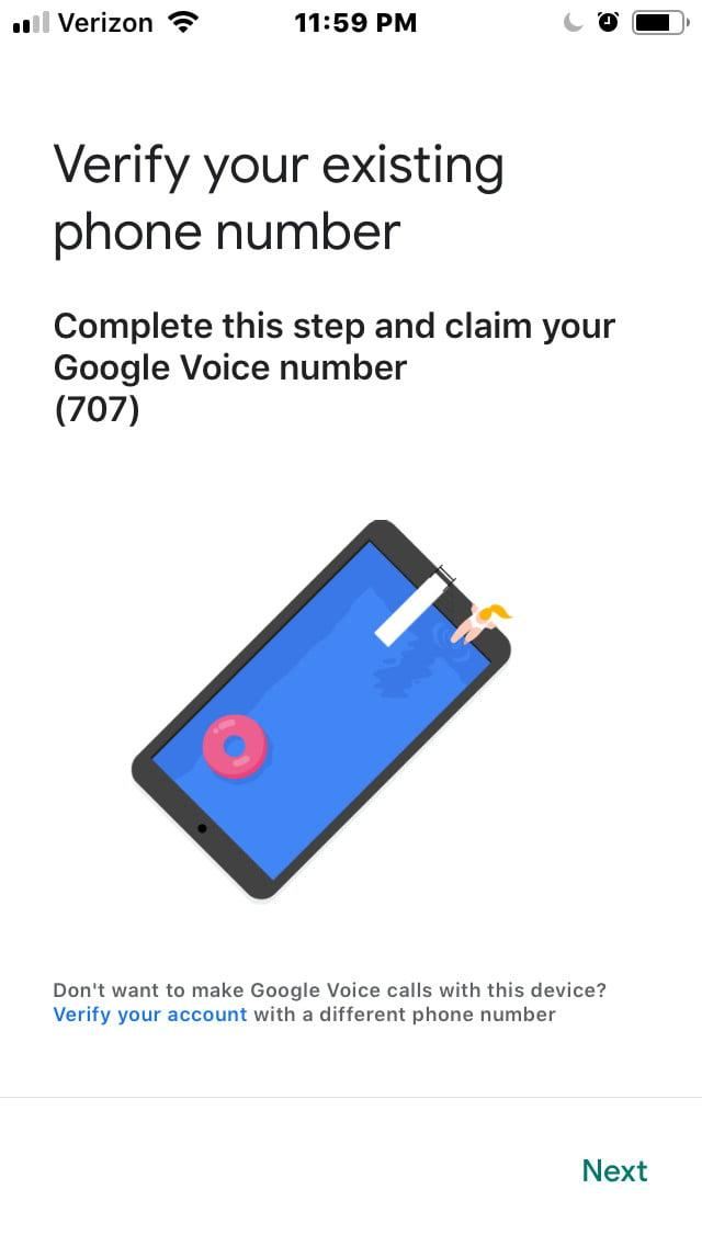 how to set up google voice gv7