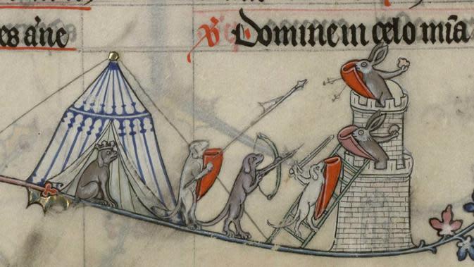 Marginalia dari manuskrip Abad Pertengahan (Bibliotheque Verdun)