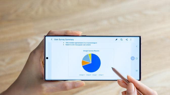 Olah dokumen di Samsung Galaxy Note20 Series