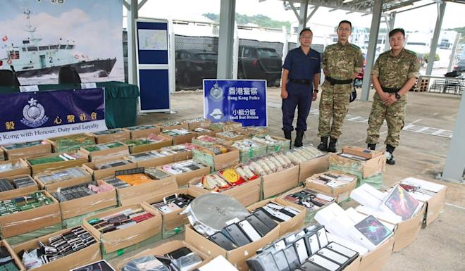 The items seized also included HK$345,000 worth of bird's nests. Photo: Handout