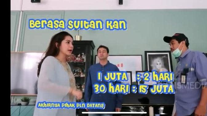 Nagita Slavina dan Raffi Ahmad didatangi pihak PLN. (YouTube Trans TV Official via Merdeka.com)