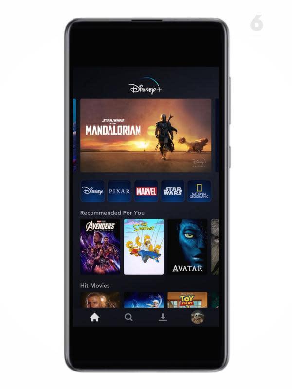 Ilustrasi Aplikasi Disney Plus Hotstar. Liputan6.com/Mochamad Wahyu Hidayat