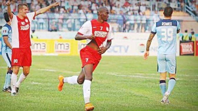 Luiz Ricard, kariernya di PSM Makassar singkat karena cedera. (Bola.com/Abdi Satria)