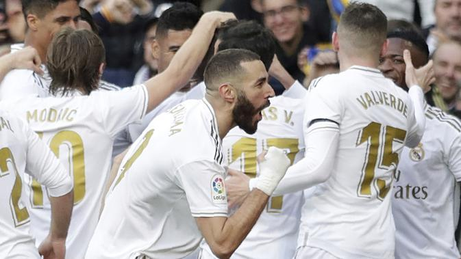 Para pemain Real Madrid. (AP Photo/Bernat Armangue)