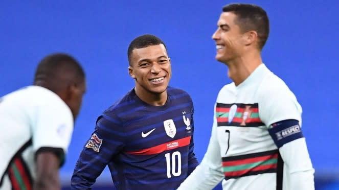 Penyerang Prancis, Kylian Mbappe dan Cristiano Ronaldo