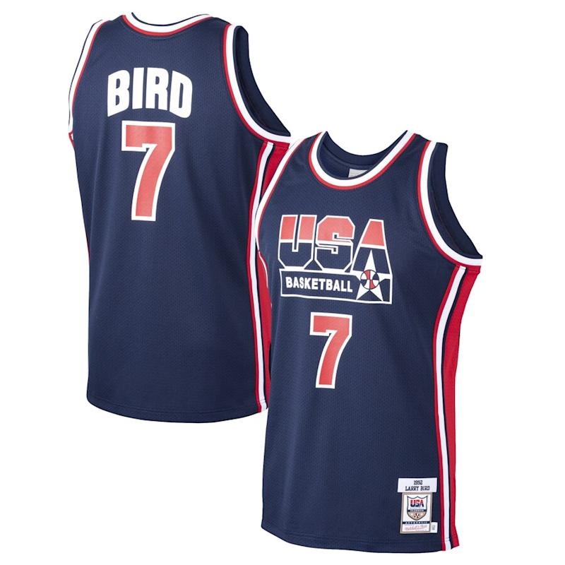 Larry Bird USA Basketball Home 1992 Dream Team Authentic Jersey