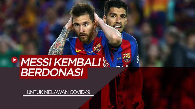 VIDEO: Bintang Barcelona, Lionel Messi Kembali Berdonasi Untuk Melawan COVID-19 di Argentina