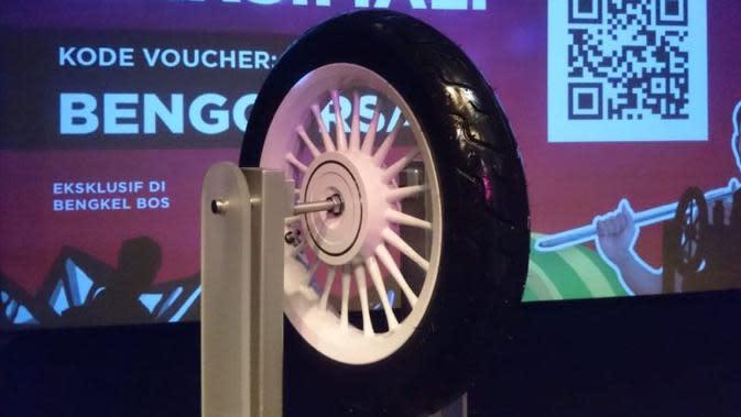 Corsa menerapkan teknologi radial khusus pada bagian dinding ban. (Herdi/Liputan6.com)