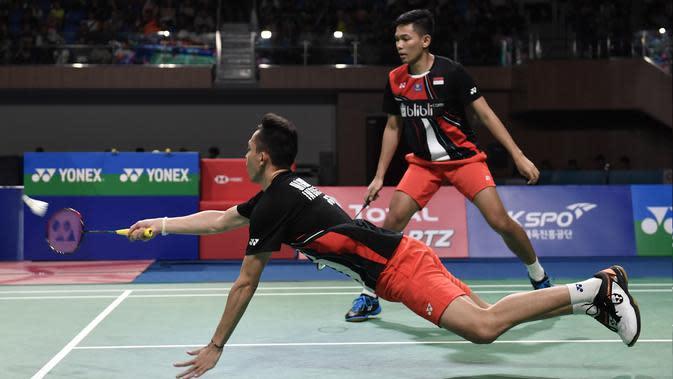 Fajar / Rian Tantang Kevin / Marcus di Perempat Final Malaysia Masters