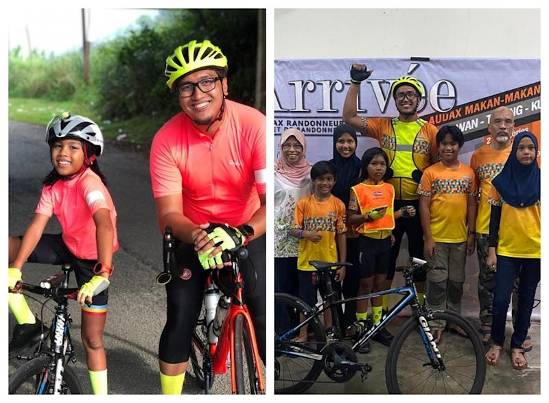 Uzair, 12 and dad will be completing the 750km mark by the end of this month. ― Picture via Facebook/AutismCafeProjectMalaysia