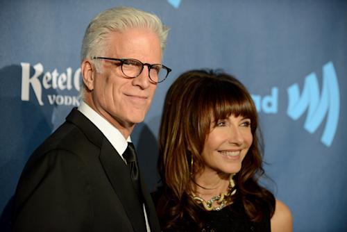 Ted Danson, left, and Mary Steenburgen arrive at the 24th Annual GLAAD Media Awards at the JW Marriott on Saturday, April 20, 2013 in Los Angeles. (Photo by Jordan Strauss/Invision/AP)
