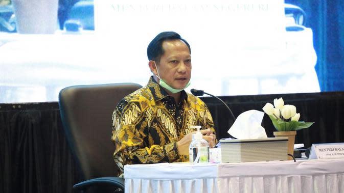 Mendagri melakukan kunjungan kerja untuk memantau langsung pelaksanaan Pembatasan Sosial Berskala Besar (PSBB) yang dilaksanakan langsung di Kabupaten dan Kota Bogor.