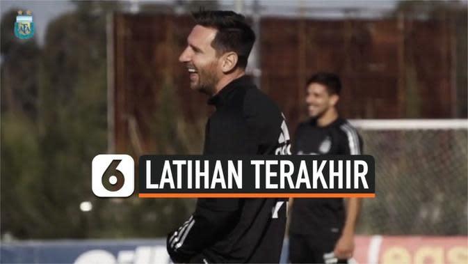 VIDEO: Lionel Messi Pimpin Latihan Terakhir Jelang Kualifikasi Piala Dunia