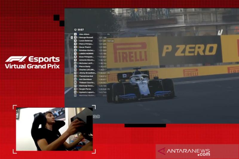 Juara di Baku, Russell ukir hattrick kemenangan di F1 esports