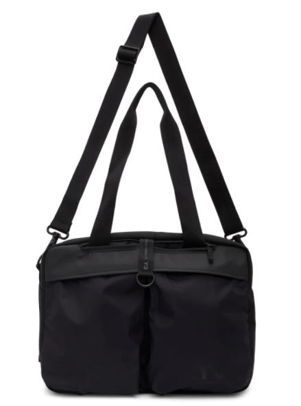Y-3 black holdall duffle bag, 49% off.US$218 (was US$428). PHOTO: Ssense