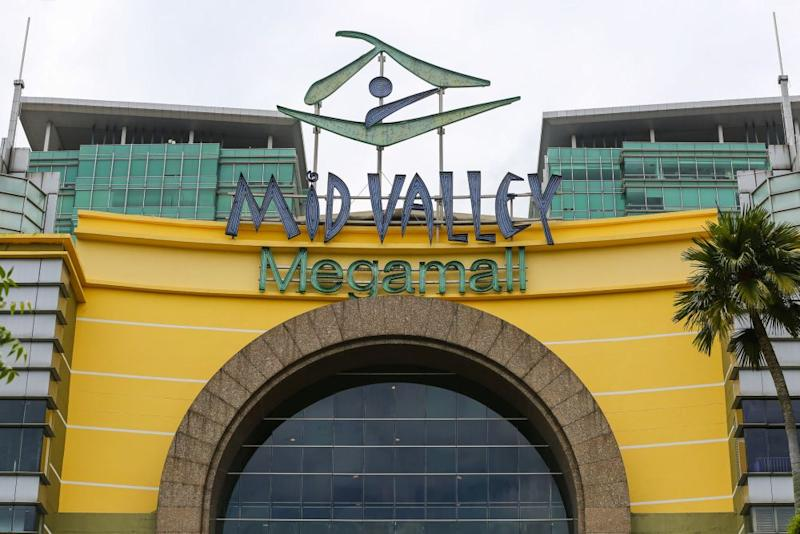 The Mid Valley Megamall signage is pictured in Kuala Lumpur October 12, 2020. — Picture by Yusof Mat Isa