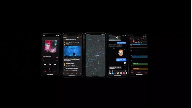 Sejumlah fitur pada iOS 13 (Foto: CNET)