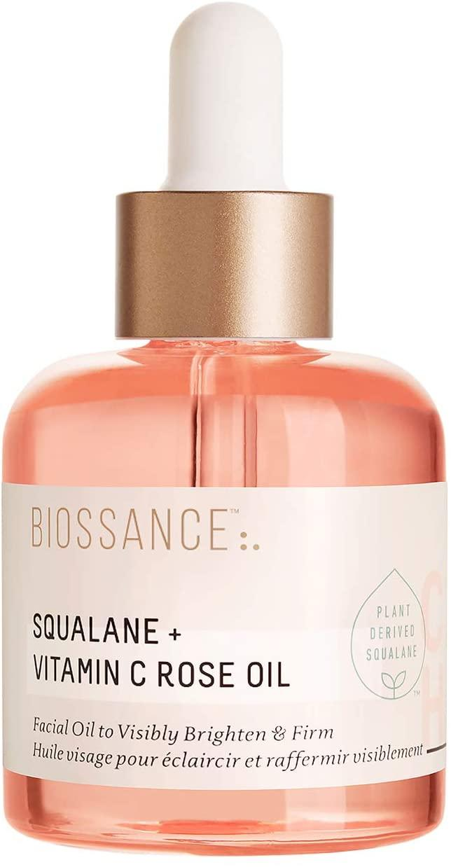 Biossance Squalene + Vitamin C Rose Oil. (Image via Biossance)